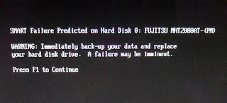amazing smart status bad backup and replace press f1 to