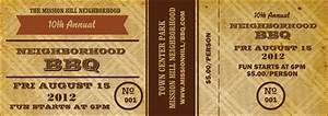 bbq vintage event ticket With bbq tickets template