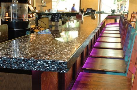 Bathroom Design: Awesome Recycled Glass Countertops For