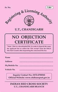 Certificate Of Performance No Objection Certificate For Old Vehicles In Chandigarh