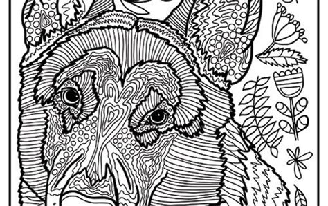 printable german shepherd dog coloring page    simple  detailed