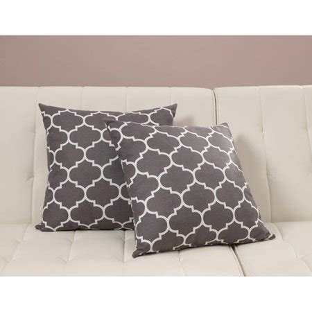 Throw Pillows For Walmart by Dorel Home Products Accent Pillows Set Of 2 Gray Trellis