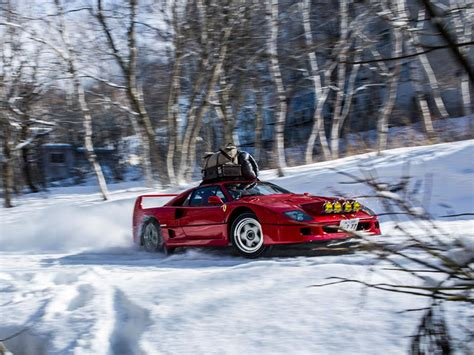 How Much Is A F40 Worth by This F40 Rallying Up A Ski Slope In Glorious