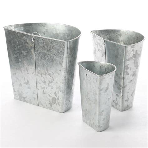 Rated 4.5 out of 5 stars. Galvanized Tin Wall Pockets - Baskets, Buckets, & Boxes - Home Decor