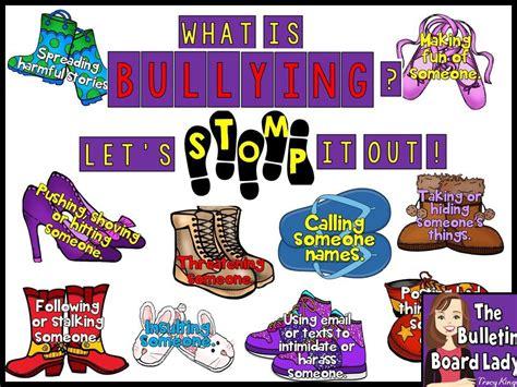 lets stomp  bullying bulletin board  bulletin