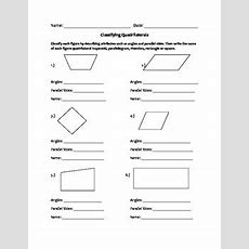 Quadrilaterals Worksheet By Ms G's Elementary Resources Tpt