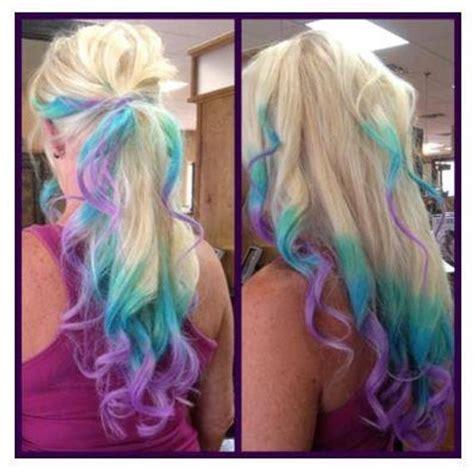 Items Similar To Clip In Rainbow Hair Ombre Hair