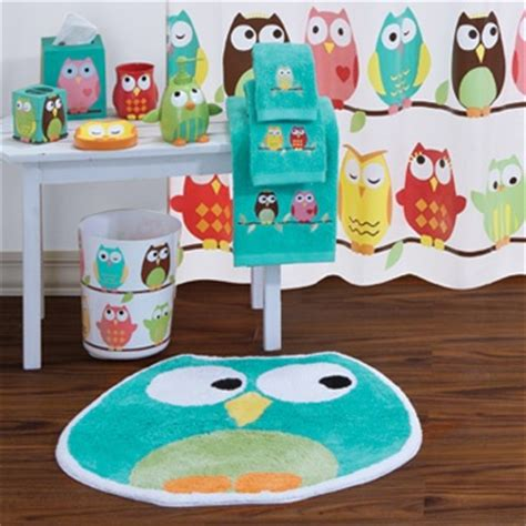 owl bathroom set kiddos pinterest