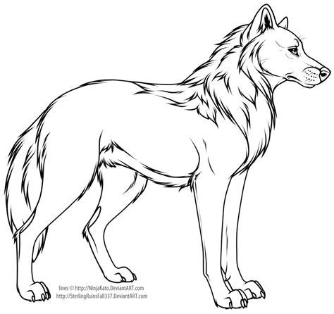 cartoon wolf  dog  art  ninjakato  deviantart