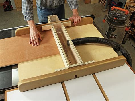 crosscut sled dust shroud woodworking blog