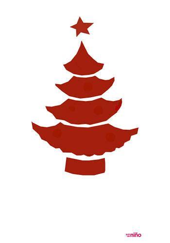 plantilla árbol de navidad para imprimir 193 rbol de navidad en rojo motivos navide 241 os para imprimir