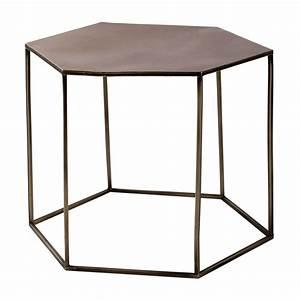 Table Basse En Mtal Cuivr L 60 Cm Cooper Maisons Du Monde