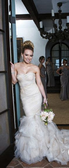 Celebrity Wedding Hillary Duff Wedding Love This And Gowns