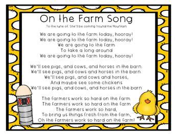 farm songs for preschoolers free on the farm song for your farm unit or farm 683