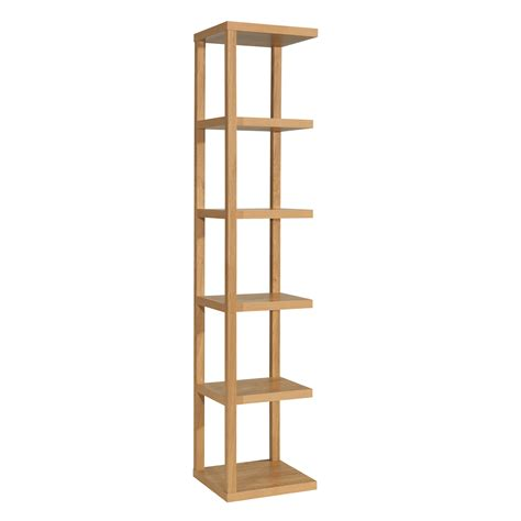 Ontario Display Unit Oak Veneer Shelving Unit 5