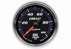 Autometer Cobalt Electric Oil Pressure Gauge  016 6153