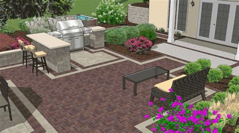 build your own island around the grill backyard