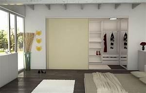 Begehbarer Kleiderschrank Design : begehbarer kleiderschrank im schlafzimmer die schiebet r dient als platzsparender raumtrenner ~ Frokenaadalensverden.com Haus und Dekorationen