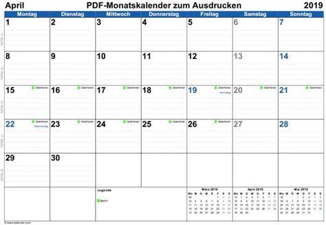 monatskalender zum ausdrucken freewarede