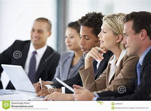 Group Business People Listening To Colleague Addressing