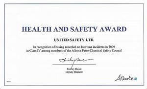 safety award certificate format image collections With safety recognition certificate template