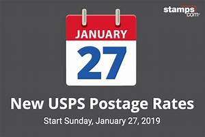 Usps Price Chart 2019 Usps Announces Postage Rate Increase Starts January 27