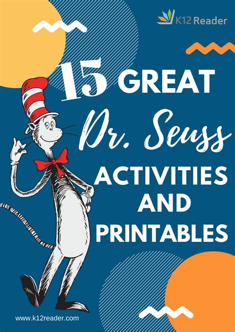 great dr seuss printables  activities