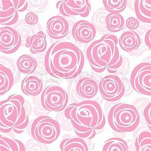 Pink art vector rose pattern. Seamless flower background ...