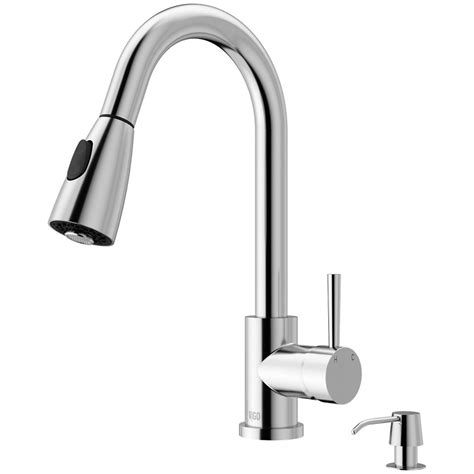 Kitchen Faucets With Spray by Vigo Chrome Pull Out Spray Kitchen Faucet With Soap