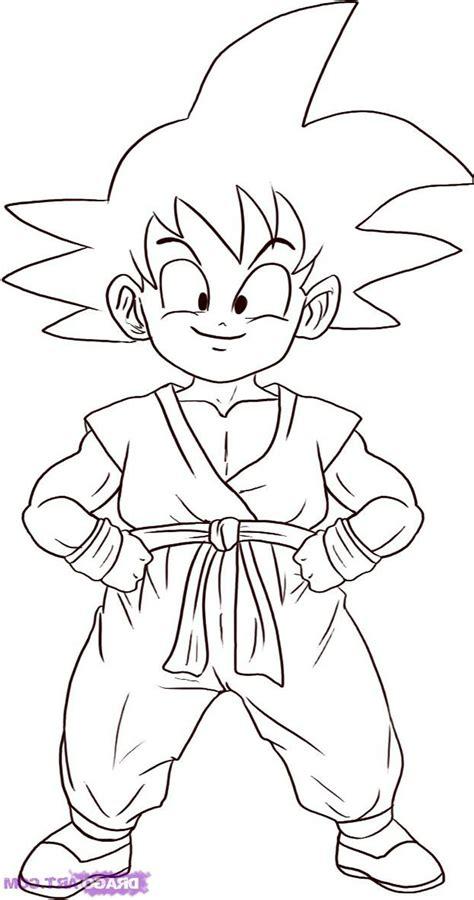 Imagen de Goku niño para colorear Dibujos para colorear