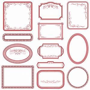 Vintage red Frame vector - Vector Frames & Borders free ...