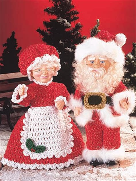 crochet santa dolls ornaments sweaters hats pillows