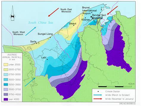 brunei climate map