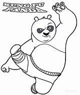 Panda Coloring Pages Printable Fu Kung sketch template