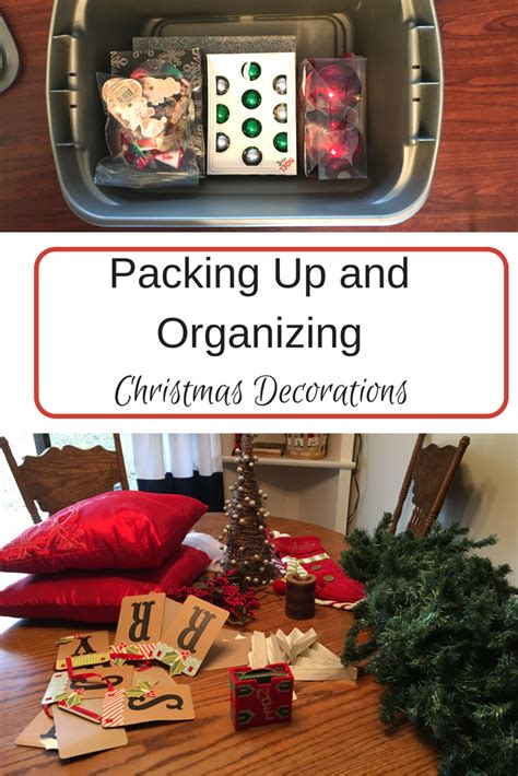 packing   organizing christmas decorations step