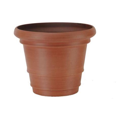 terra cotta planters arcadia garden products 22 in x 17 in terra