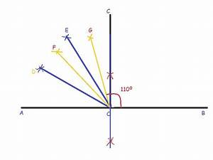 How to draw 110 degree angle with compass and scale ...