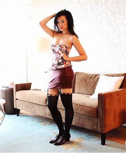 Fall Gifs Layering Posing Skirt Mini Garter