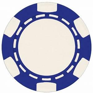 50 Blue 6 Stripe 11.5 gram ABS poker chips