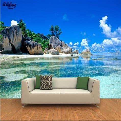 beibehang large custom wallpapers  hd seaview rocks