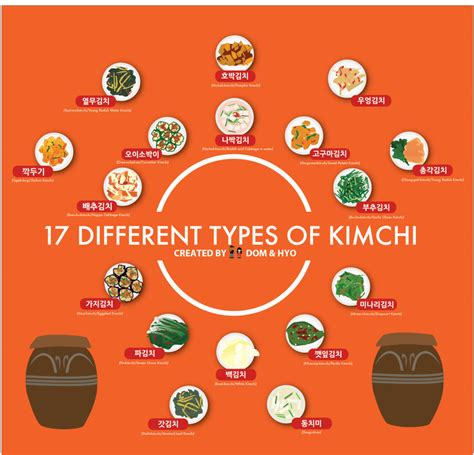 different types of cuisines in the 17 different types of kimchi infographic dom hyo learn with graphics