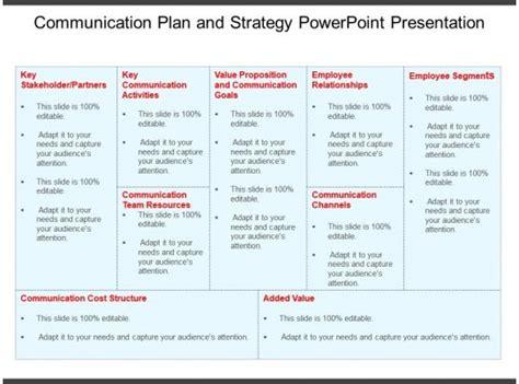 communication plan  strategy powerpoint