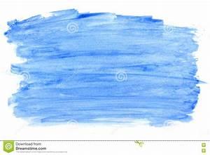 Tache De Couleur Peinture Fond Blanc : tache bleue abstraite de peinture de couleur d 39 aquarelle d 39 isolement sur un fond blanc ~ Melissatoandfro.com Idées de Décoration