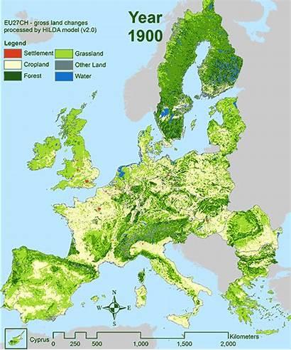 Europe Forest Animated Animation Maps Timelapse Greener
