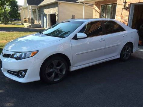 2014 toyota camry with rims 2014 toyota camry 4dr sdn v6 auto se white finance