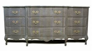 Gray french provincial with brass accents annie sloan for French painted furniture