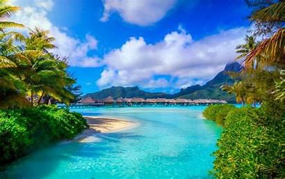 Bora Landscape Tropical Nature Island French Sea