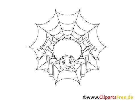 spinne und spinnennetz malvorlage