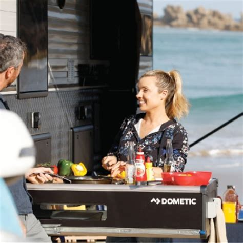 CaravansPlus: Dometic Slide Out Kitchen   3 Burner / Sink