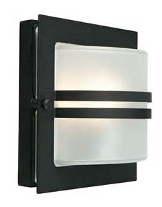 bern deco frosted glass outdoor wall lantern black